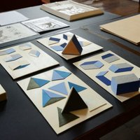 Selected adaptations showcased this year: tactile graphics and geometrical solids in projections