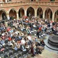 The Collegium Maius courtyard during the concert