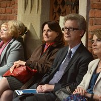 During the concert, left-right: Professor Beata Tobiasz Adamczyk, Ewa Pędracka-Kwaskowska, Jagiellonian University Chancellor, Professor Jacek Popiel, Vice-Rector for personnel and financial policies, and Professor Maria Szewczyk