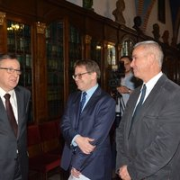 University authorities, left-right: Jagiellonian University Rector Professor Wojciech Nowak, MD, Professor Krzysztof Stopka, Director of the Jagiellonian University Museum, Włodzimierz Kisza, Deputy Director