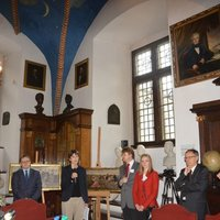 Press conference, Libraria at Collegium Maius