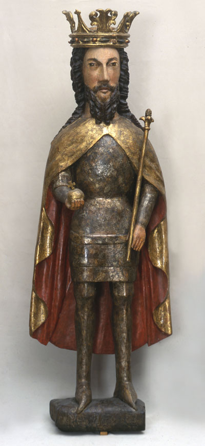 King Casimir the Great; Kraków, circa 1380; limewood sculpture